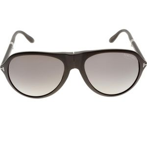 Tom Ford Foldable Unisex Sunglasses BrownGrey Lens